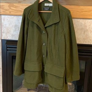 LL Bean Bellandi Italian Wool Coat